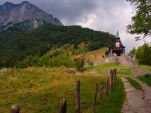 Iglesia conmemorativa del Espíritu Santo, Javorca eslovenia Foto de archivo