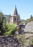 Iglesia Conques Fotografía de archivo