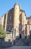Iglesia Conques Imágenes de archivo libres de regalías