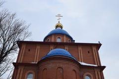 Iglesia contra el cielo fotografía de archivo libre de regalías