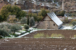 Iglesia cristiana ortodoxa antigua de Panagia Podithou Chipre Fotos de archivo