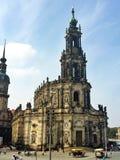 Iglesia cruzada en la ciudad vieja de Dresden en Alemania Imagen de archivo libre de regalías