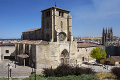 Iglesia dan Estaban - Burgos - Spain Stock Photo
