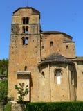 Iglesia de圣玛丽亚,圣克鲁斯de la Seros,韦斯卡省(西班牙)。 免版税图库摄影