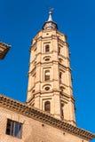 Iglesia de圣胡安de los Panetes,萨瓦格萨,西班牙教会  特写镜头 垂直 库存图片