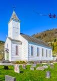 Iglesia de Øystese imagen de archivo libre de regalías