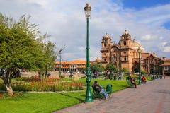 Iglesia de Λα Compania de Ιησούς Plaza de Armas σε Cusco, Περού Στοκ Εικόνες