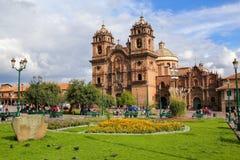 Iglesia de Λα Compania de Ιησούς Plaza de Armas σε Cusco, Περού Στοκ Εικόνα
