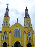 Iglesia de Сан-Франциско de Castro, остров Chiloe Стоковое Изображение RF