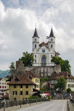 Iglesia de Aarburg, Suiza Fotografía de archivo libre de regalías