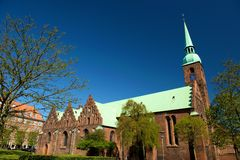 Iglesia de Aarhus Fotos de archivo libres de regalías