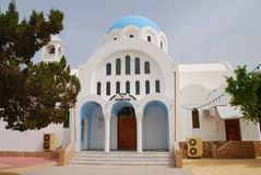 Iglesia de Agioi Anargyroi, Skala Imágenes de archivo libres de regalías