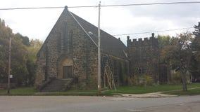 Iglesia de Akron Ohio Imágenes de archivo libres de regalías