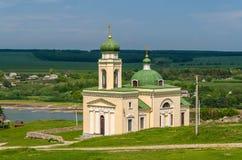 Iglesia de Alexander Nevsky en Khotyn Imagenes de archivo