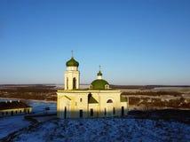 Iglesia de Alexander Nevsky en la fortaleza de Khotyn Imagen de archivo libre de regalías