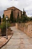 Iglesia de Alquezar Foto de archivo libre de regalías