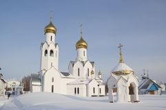 Iglesia de Archistrategos Mikhail en Novosibirsk Rusia foto de archivo libre de regalías