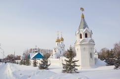 Iglesia de Archistrategos Mikhail en Novosibirsk Rusia fotografía de archivo libre de regalías