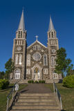 Iglesia de Baie-St-Paul Fotos de archivo libres de regalías