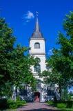 Iglesia de Baltezers en Letonia Imagenes de archivo
