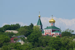 Iglesia de Boris y de Gleb en Ucrania Foto de archivo