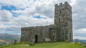 Iglesia de Brentor, Devon imagen de archivo libre de regalías