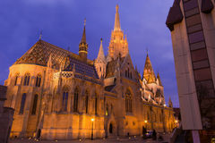 Iglesia de Budapest Matías Foto de archivo libre de regalías