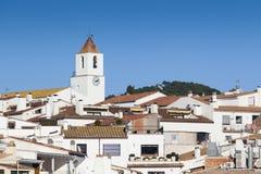 Iglesia de Calella de Palafrugell Imagen de archivo