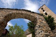 Iglesia de Canillo, Andorra imagenes de archivo