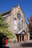 Iglesia de Canongate, milla real, Edimburgo fotografía de archivo