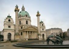 Iglesia de Carls, Viena foto de archivo libre de regalías