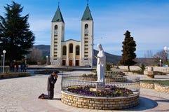 Iglesia de católicos en Medjugorje Imágenes de archivo libres de regalías