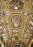 Iglesia de Certosa di San Martino.naples, Italia Fotografía de archivo libre de regalías