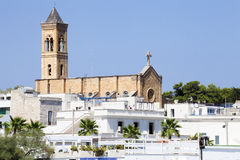 Iglesia de Cristo el rey Re en Santa Maria di Leuca en Puglia, Italia Imagen de archivo libre de regalías
