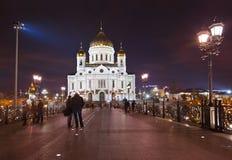 Iglesia de Cristo el salvador en Moscú Imagen de archivo