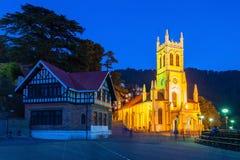 Iglesia de Cristo, Shimla Foto de archivo libre de regalías