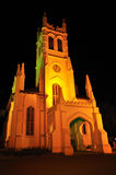 Iglesia de Cristo (Shimla) en la noche Foto de archivo libre de regalías