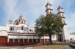 Iglesia de Custodio del ángel de Santo, Puebla (México) Foto de archivo libre de regalías