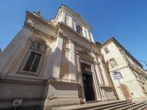 Iglesia de Del Carmine en Turín fotografía de archivo