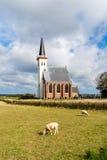 Iglesia de Den Hoorn en Texel, Países Bajos Imágenes de archivo libres de regalías