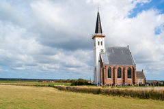 Iglesia de Den Hoorn en Texel, Países Bajos Fotografía de archivo libre de regalías