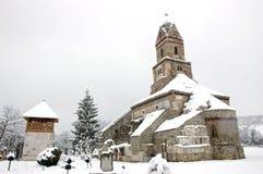 Iglesia de Densus en Rumania Fotos de archivo libres de regalías