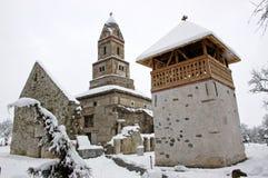 Iglesia de Densus en Rumania Foto de archivo