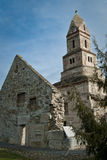 Iglesia de Densus, hecha de piedra Foto de archivo libre de regalías