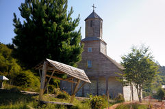 Iglesia de Detif en Chiloe, Chile Fotografía de archivo libre de regalías