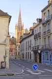 Iglesia de Dijon en la salida del sol Fotografía de archivo libre de regalías
