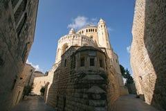 Iglesia de Dormition en el monte Sion, Jerusalén Fotos de archivo