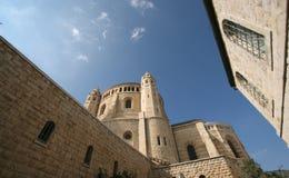 Iglesia de Dormition en el monte Sion, Jerusalén Imágenes de archivo libres de regalías