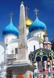 Iglesia de Dormition en la trinidad Sergius Lavra Fotografía de archivo libre de regalías