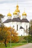 Iglesia de Ekateriniska en Chernigov, Ucrania foto de archivo